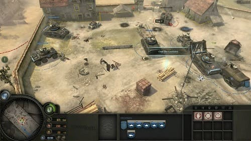 company of heroes геймплей