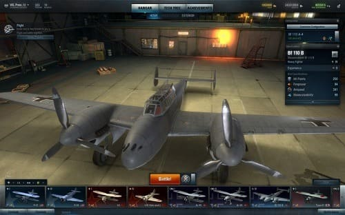 World of Warplanes геймплей