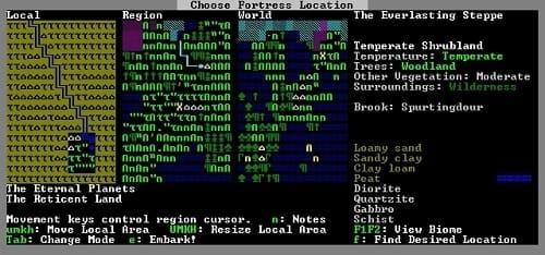 Обзор игры Dwarf Fortress