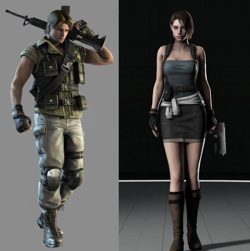 Вот так выглядели персонажи Resident Evil 3 в старой версии игры