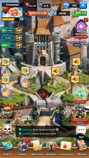 Обзор игры Empires and Puzzles
