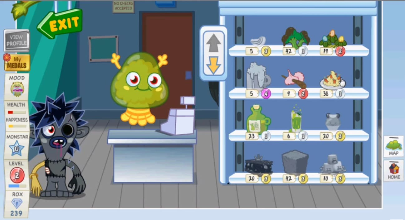Обзор игры Moshi Monsters