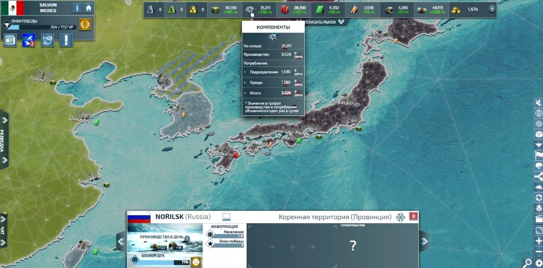Обзор игры Conflict of Nations