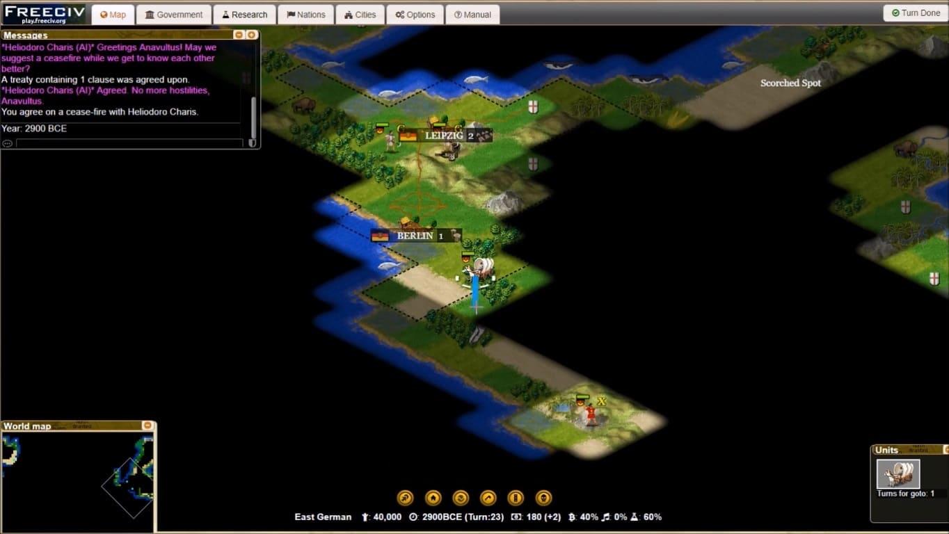 Обзор игры Freeciv