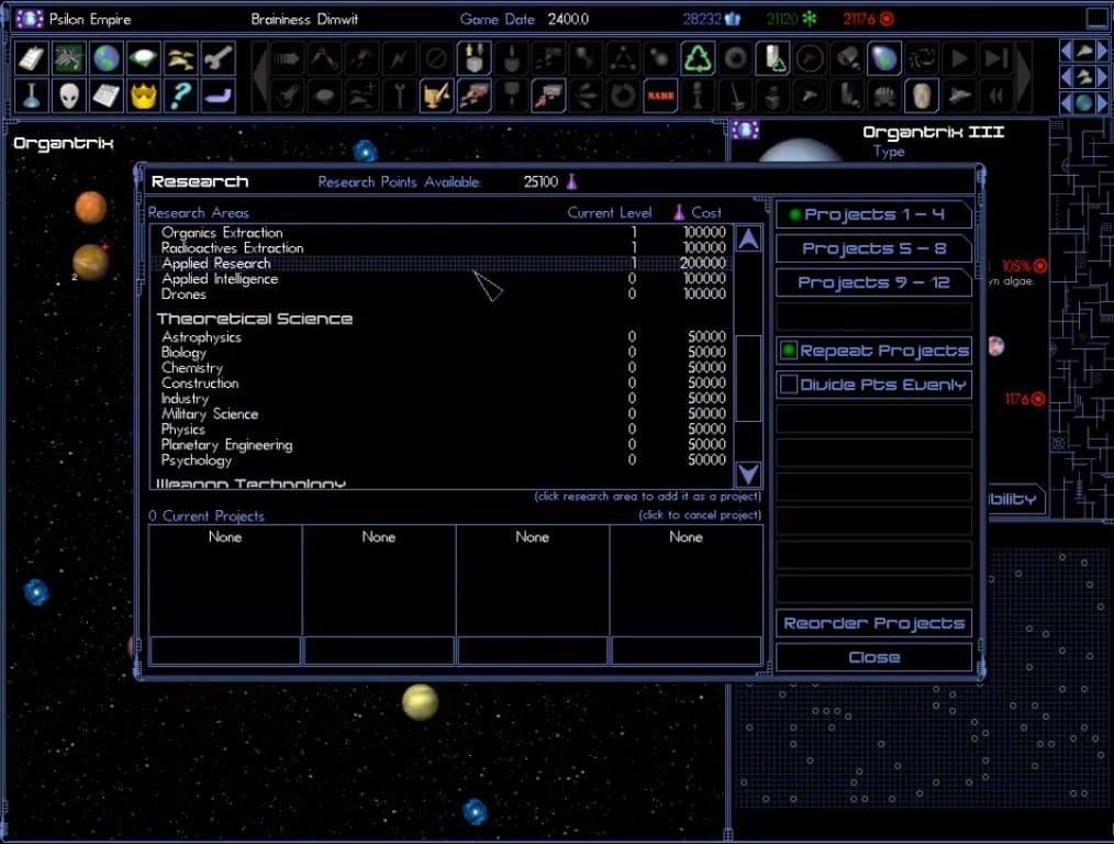 Обзор игры Space Empires IV