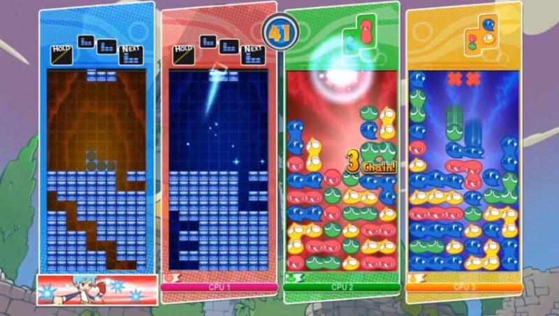 Обзор игры Puyo Puyo Tetris